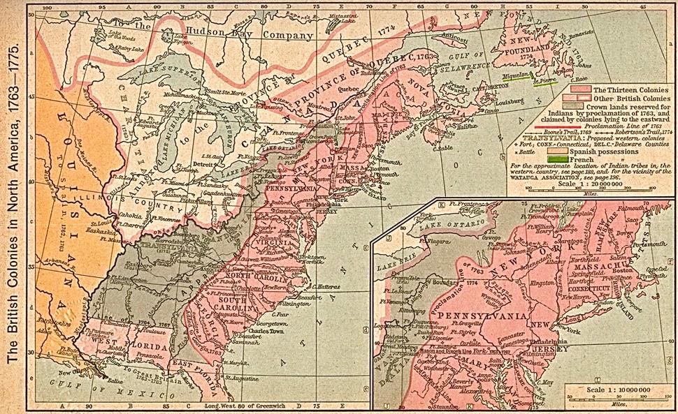 British colonies 1763-76 shepherd1923