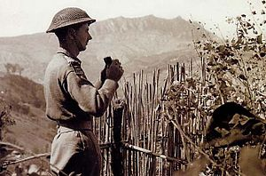 British soldier at the Battle of Monte Pulito, 1944.jpg