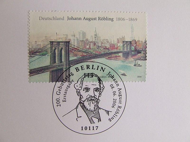 Файл:Brooklyn Bridge poŝtmarko DE 2006.jpg
