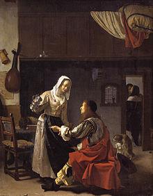 Resultado de imagen de Frans van Mieris el Viejo. El burdel.