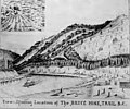 Bruce Mine entrance, Trail, British Columbia, probably between 1880 and 1900 (AL+CA 8164).jpg