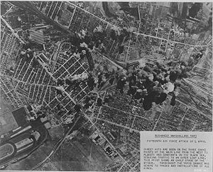 Bombing of Bucharest in World War II - Image: Bucharest bombed April 4, 1944 2