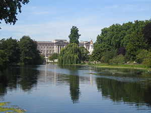 Buckingham Palace, viewed from St James's Park...