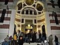 Bucuresti, Romania. BISERICA AMZEI. Maslu. (B-II-m-B-18148) (multime de oameni la MASLU).jpg