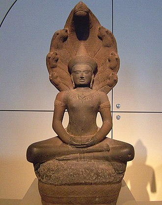 Asian Art Museum (San Francisco) - Image: Buddha shielded by Naga