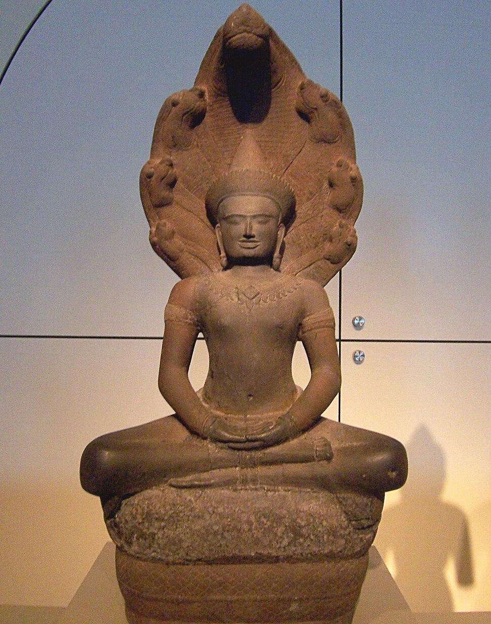Buddha shielded by Naga