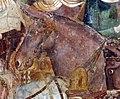 Buffalmacco, trionfo della morte, incontro dei tre vivi coi tre morti 22 cavallo.jpg