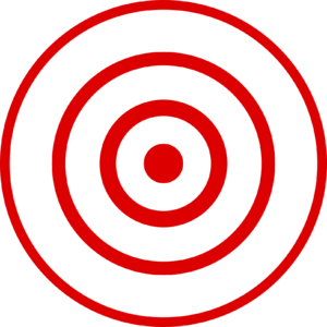 English: Bull's eye graphic for use with earth...