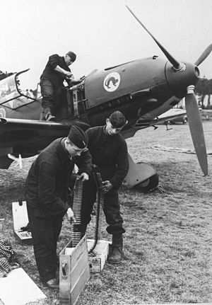 Jagdgeschwader 51 - Aircraft of 8./JG 51 being armed.