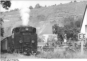 Radebeul–Radeburg railway - Train at the 100 year anniversary in 1984
