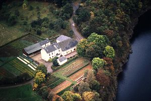Français : Le hameau luxembourgeois de Burfelt...