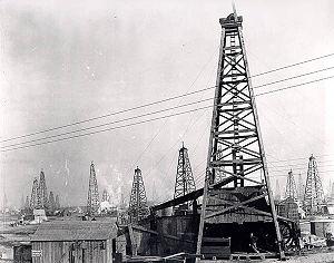 Burkburnett, Texas - Oil derricks at Burkburnett