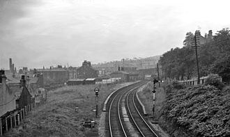 Burnley Manchester Road railway station - The station in 1962