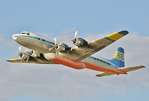 Douglas DC-7 1995  Fairbanks'da.