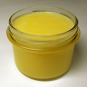 Clarified butter - Clarified butter at room temperature