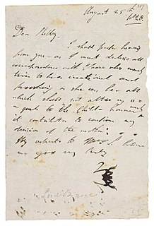 Byrons letters correspondence