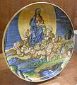 C.sf., urbino, francesco xanto avelli, coppa a basso piede con madonna e il bambino su nuvole, 1537.JPG