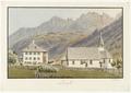 CH-NB - Lenk im Simmental, Pfarrhaus und Kirche - Collection Gugelmann - GS-GUGE-WEIBEL-D-78a.tif