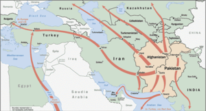CIA transnational anti-crime and anti-drug activities - CIA map of major heroin flows from Southwest Asia