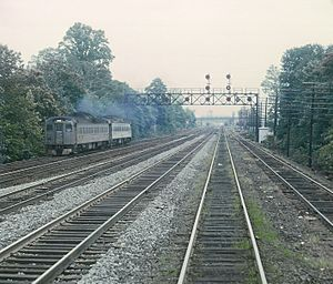 Central Railroad of New Jersey - A train on the CNJ's mainline near Plainfield, New Jersey in 1969
