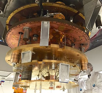 CUORE - The CUORE cryostat under construction in October 2014.