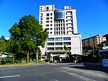 CUST Taipei Campus West Entrance 20120721.JPG