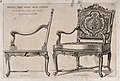 Cabinet-making; designs for a chair. Etching by J. Verchère Wellcome V0024025.jpg