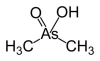 Struktur vor Dimethylarsinsäure