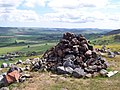 Cairn on the subsidiary summit of Akeld Hill - geograph.org.uk - 779065.jpg