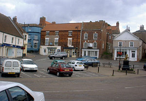 Caistor - Image: Caistor Market Place geograph.org.uk 58039