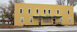 National Register of Historic Places listings in Pennington County, South Dakota - Image: Calumet Hotel Wasta South Dakota