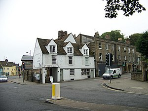Chesterton Road, Cambridge - The Museum of Cambridge, viewed from the southwestern end of Chesterton Lane