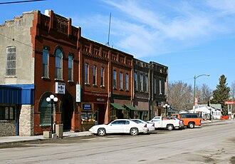 Cambridge, Iowa - View along Water Street in Cambridge, Iowa