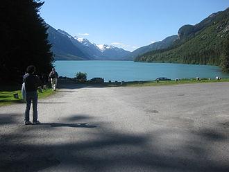 Chilkoot Lake - Image: Camping area at Cilkoot Lake