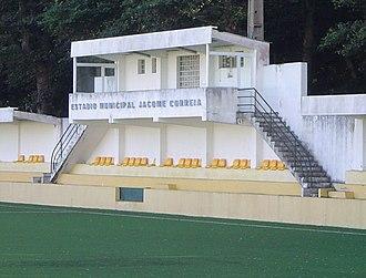 CU Micaelense - The administration block of Campo Municipal Jâcome Correia