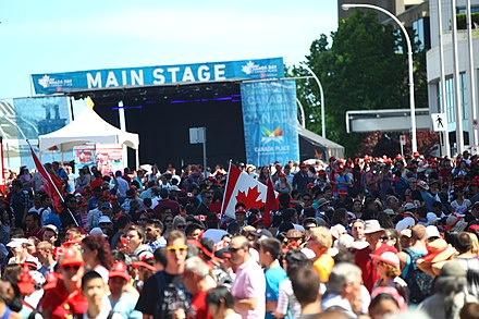 Canada Day is celebrated on July 1 Canada Day 2014 @ Canada Place (14373380559).jpg