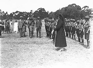 Scouts Australia - Boy Scouts being reviewed in Canberra in 1927