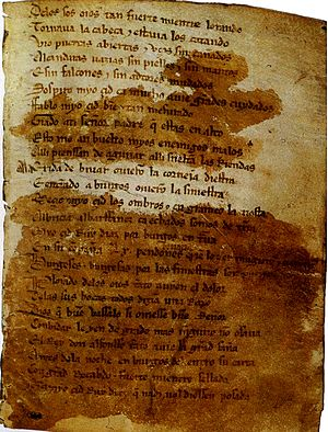Spanish literature - The Cantar de Mio Cid is the oldest preserved Spanish cantar de gesta