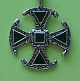 Canterbury cross - A Canterbury Cross brooch
