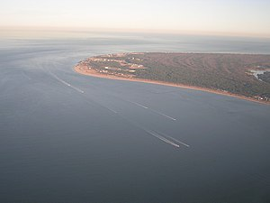Cape Henry - Cape Henry from the air, facing east-southeast