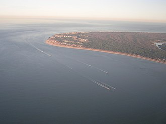 Virginia Beach, Virginia - Cape Henry from the air, facing east-southeast