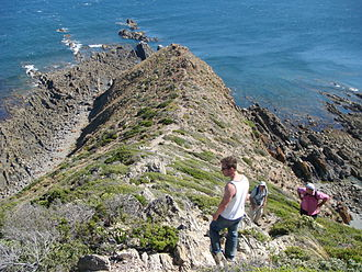 Cape Liptrap - Cape Liptrap, Victoria. The lighthouse is above (behind) the people.