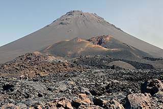 active volcano and highest peak of Cape Verde