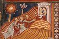 Cappella di san silvestro, affreschi del 1246, storie di costantino 03 invio dei messi a papa silvestro sul soratte 5.jpg