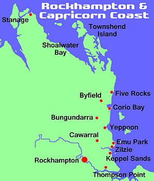 Shoalwater Bay - Image: Capricorn coast map