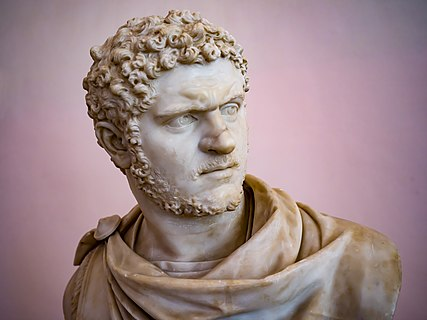 Bust of Caracalla AD 212 in the National Archaeological Museum, Naples.