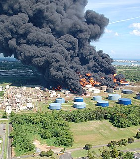 2009 Cataño oil refinery fire Explosion and fire in Bayamón, Puerto Rico, US