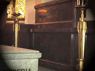 Louise of the Netherlands - Grave of King Carl and Queen Louise in Riddarholm Church.