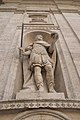 Carlo Magno on the facade of the church of St. Louis of France, seen from below.JPG