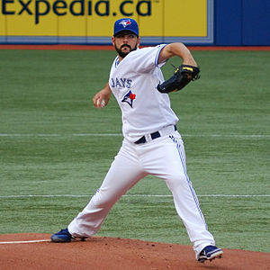 Carlos Villanueva (baseball) - Villanueva during his tenure with the Toronto Blue Jays in 2012